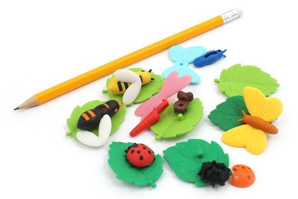 Iwako Bugs Fellow Novelty Eraser - 14 Piece Set - IWAKO ER-BRI029