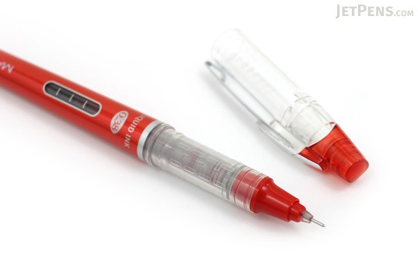 Morning Glory Mach 3 Rollerball Pen - 0.38 mm - Red - MORNING GLORY MACH3 RED