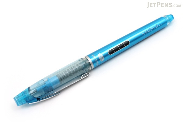 Morning Glory Mach 3 Rollerball Pen - 0.38 mm - Light Blue - MORNING GLORY MACH3 L.BLUE