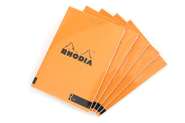 "Rhodia R Premium Notepad No. 12 - 3.4"" x 4.8"" - Blank - Orange - Bundle of 5 - RHODIA 122007 BUNDLE"