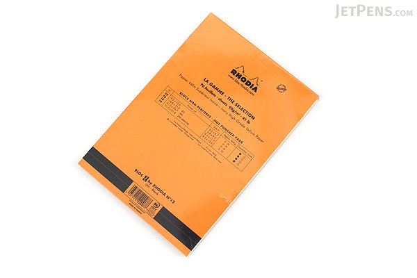 "Rhodia R Premium Notepad No. 12 - 3.4"" x 4.8"" - Blank - Orange - RHODIA 122007"