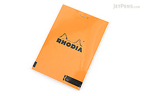 "Rhodia R Premium Notepad No. 12 - 3.4"" x 4.8"" - Blank - Orange - RHODIA 122007"
