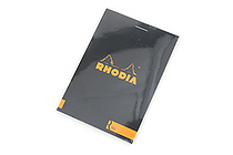"Rhodia R Premium Notepad No. 12 - 3.4"" x 4.8"" - Lined - Black - RHODIA 122012"