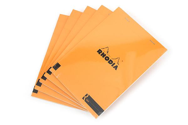 Rhodia R Premium Notepad No. 16 - A5  - Blank - Orange - Bundle of 5 - RHODIA 162007 BUNDLE
