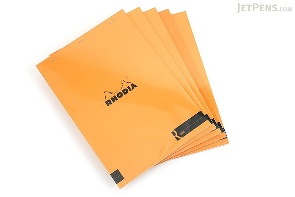 Rhodia R Premium Notepad No. 18 - A4 - Blank - Orange - Bundle of 5 - RHODIA 182007 BUNDLE