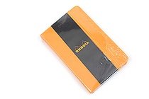 "Rhodia Webnotebook - 3.5"" x 5.5"" - 5 mm Dot Grid - Orange - RHODIA 118568"