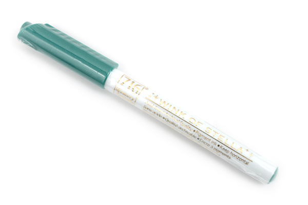 Kuretake Zig Wink of Stella Glitter Marker - 0.8 mm - Dark Green - KURETAKE MS-40-042