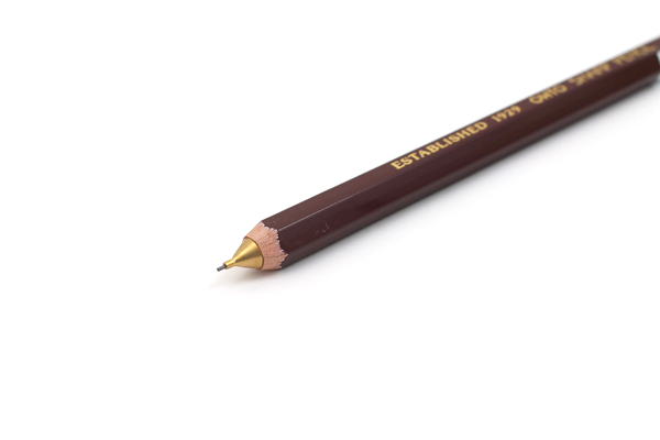 Ohto Wooden Mechanical Pencil - 0.5 mm - Dark Red - OHTO APS-280E-ENJI