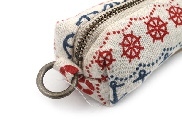 Miyamoto Collection Retro Komon Pen Case - Nautical - MIYAMOTO 07308