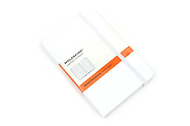 "Moleskine Classic Pocket Notebook - 3.5"" x 5.5"" - Ruled - White - MOLESKINE 978-88-6613-717-7"