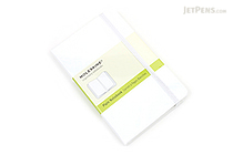 "Moleskine Classic Pocket Notebook - 3.5"" x 5.5"" - Plain - White - MOLESKINE 978-88-6613-719-1"