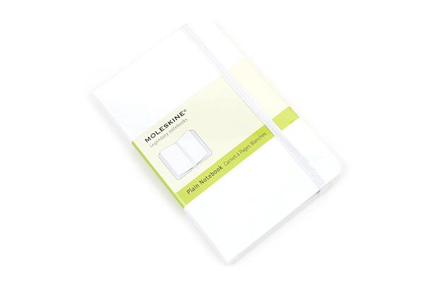 "Moleskine Classic Pocket Notebook - 3.5"" x 5.5"" - Plain - White - MOLESKINE 978-88-6613-719-1"