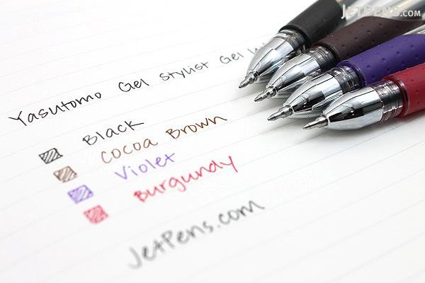 Yasutomo Y&C Gel Stylist Gel Ink Pen - 0.5 mm - Cocoa Brown - YASUTOMO GS200E