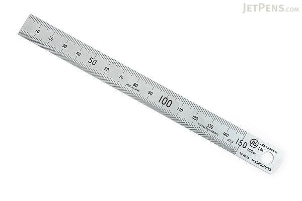 Kokuyo Stainless Steel Ruler - 15 cm - KOKUYO TZ-RS15