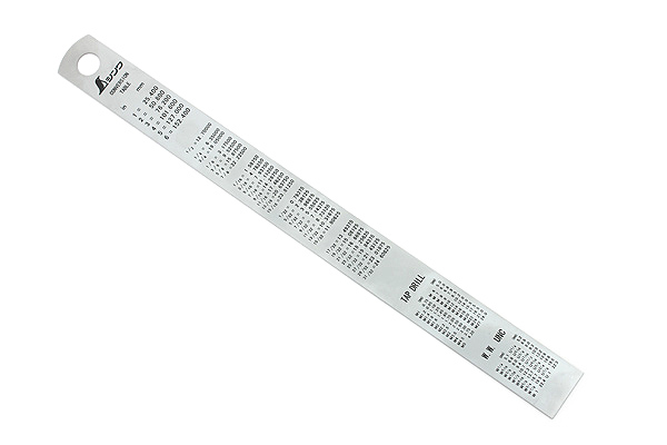 Kokuyo Stainless Steel Ruler - 15 cm - KOKUYO TZ-RS15