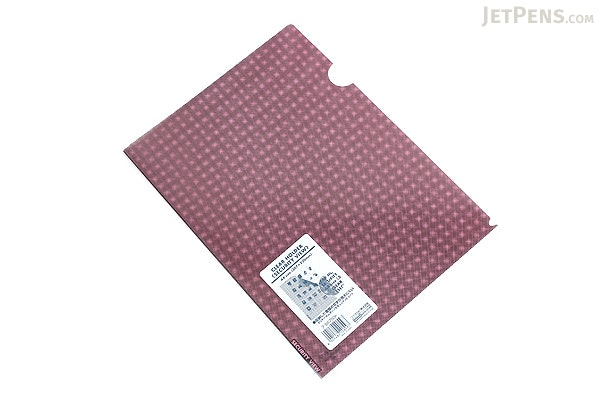 Kokuyo Clear Folder - Security View - A4 - Pink - KOKUYO FU-SS750P