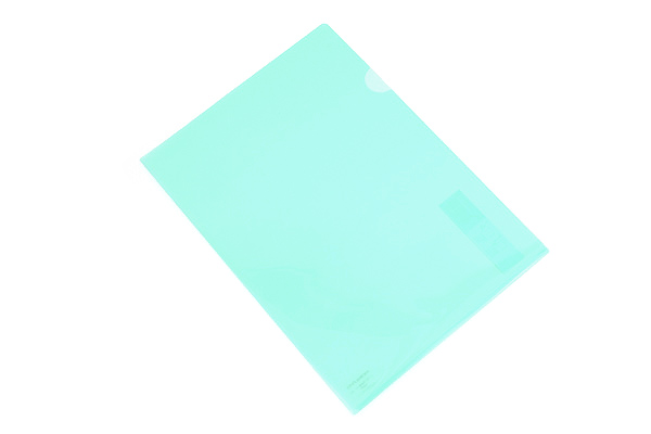 Kokuyo Clear Folder - Super Clear 10 - A4 - Emerald Green - KOKUYO FU-TC750N-3