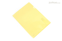 Kokuyo Clear Folder - Super Clear 10 - A4 - Lemon Yellow - KOKUYO FU-TC750N-7