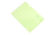 Kokuyo Clear Folder - Super Clear 10 - A4 - Light Green - KOKUYO FU-TC750N-8