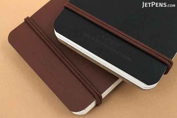 "Midori Grain Memo Pad - 5"" x 3"" - Lined and Plain - 100 Sheets - Dark Brown - MIDORI 11799-006"
