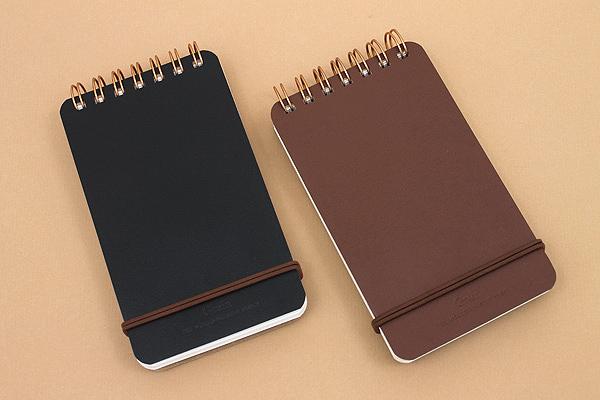 "Midori Grain Memo Pad - 5"" x 3"" - Lined and Plain - 100 Sheets - Black - MIDORI 11796-006"