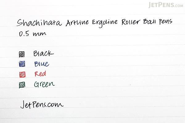 Shachihata Artline Ergoline Rollerball Pen - 0.5 mm - Red - SHACHIHATA K-4200 RED