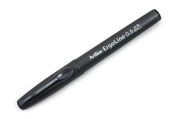 Shachihata Artline Ergoline Rollerball Pen - 0.5 mm - Black - SHACHIHATA K-4200 BLACK
