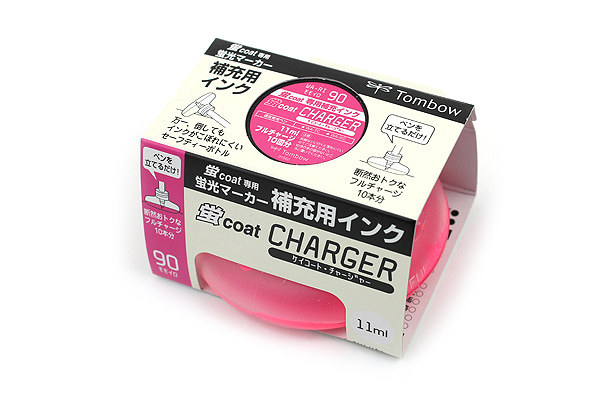 Tombow Kei Coat Highlighter Ink Charger - Pink - TOMBOW WA-RI 90