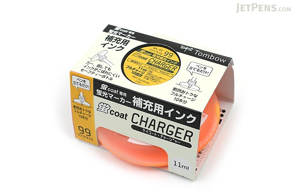 Tombow Kei Coat Highlighter Ink Charger - Golden Yellow - TOMBOW WA-RI 99
