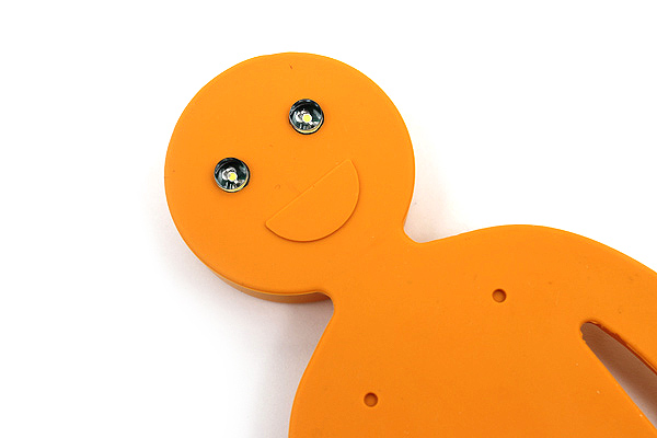 Raymay Light Man Bendable Book Light - Orange - RAYMAY LTM130D
