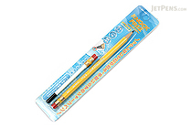 Sun-Star Knock Free Sharp Mechanical Pencil + Leads - 0.7 mm - Yellow - SUN-STAR 4446-976