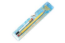 Sun-Star Knock Free Sharp Mechanical Pencil + Leads - 0.7 mm - Yellow - SUN-STAR 4446-976
