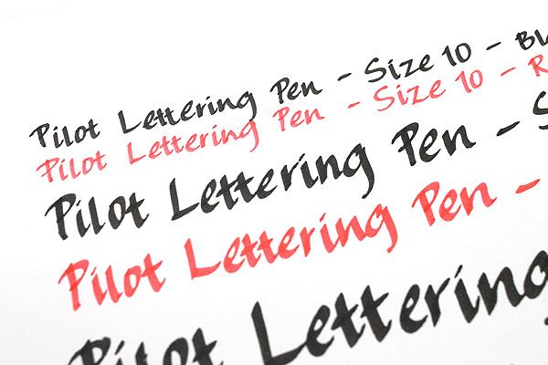 Pilot Lettering Pen - Size 10 - Black - PILOT S-20DRLN1-B