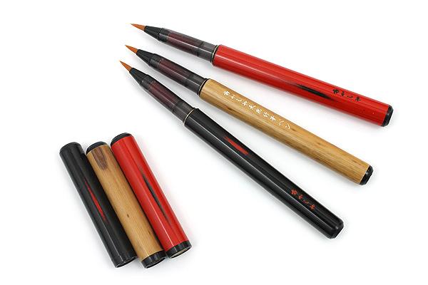 Akashiya Bamboo Body Brush Pen - AK2000 - Red Body - AKASHIYA AK2000UP-RD
