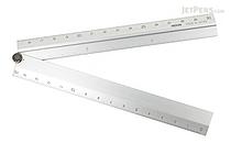Midori Aluminum Multi Ruler - 30 cm - Silver - MIDORI 42253-006