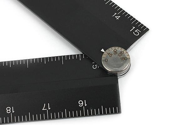 Midori Aluminum Multi Ruler - 30 cm - Black - MIDORI 42254-006