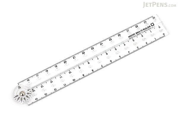 Midori Multi Ruler - 30 cm - Clear - MIDORI 42237-006