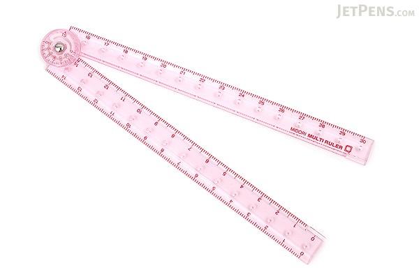 Midori Multi Ruler - 30 cm - Pink - MIDORI 42238-006