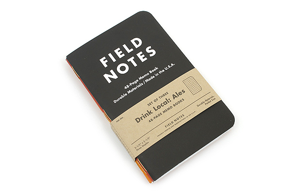 "Field Notes Color Cover Memo Book - Drink Local Limited Edition - Ales - 3.5"" X 5.5"" - 48 Pages - Graph - Pack of 3 - FIELD NOTES FNC-20A"