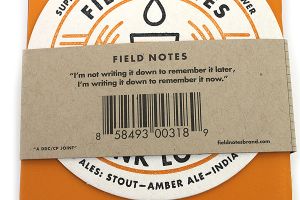 """Field Notes Color Cover Memo Book - Drink Local Limited Edition - Ales - 3.5"""" X 5.5"""" - 48 Pages - Graph - Pack of 3 - FIELD NOTES FNC-20A"""