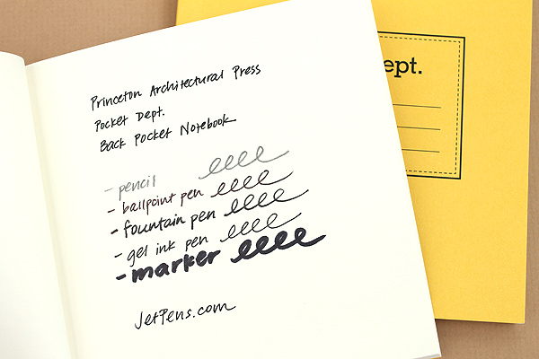 "Princeton Architectural Press Pocket Dept. Back Pocket Notebook - 4"" x 4"" - Blank - Pack of 3 - PRINCETON AP 978-1-61689-199-2"