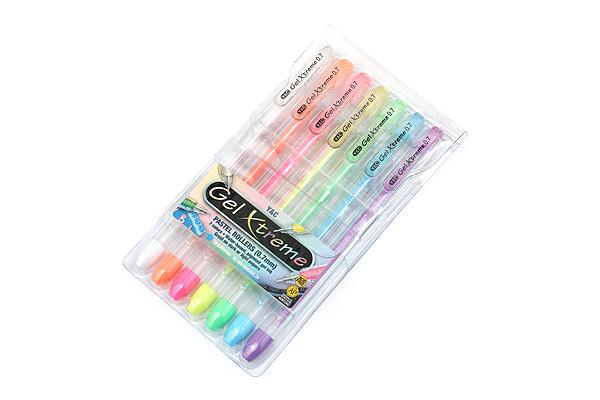 Yasutomo Y&C Gel Xtreme Gel Pen - 0.7 mm - Pastel 7 Color Set - YASUTOMO GX1017