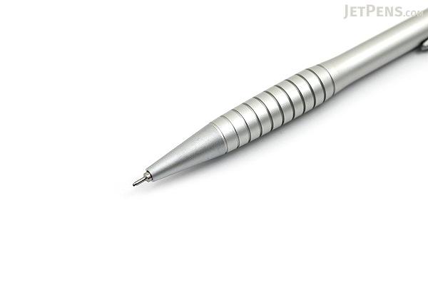 Ohto G-Fit Barrel Ballpoint Pen - 0.5 mm - Matte Silver Body - OHTO NBP-405GFB SILVER MATTE