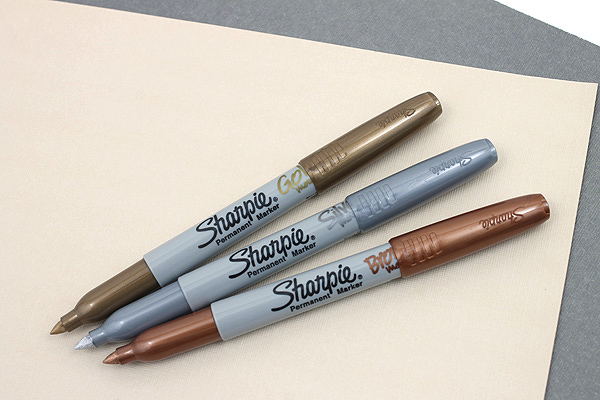 Sharpie Metallic Permanent Marker - Fine Point - Gold - SHARPIE 1823889