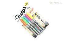 Sharpie Neon Permanent Marker - Fine Point - 5 Color Set - SHARPIE 1860443
