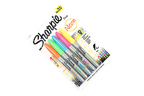 Sharpie Neon Permanent Marker - Fine Point - 5 Color Set - SANFORD 1860443