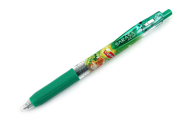 Zebra Limited Edition Sarasa Clip Lipton Tea Scented Gel Ink Pen - 0.5 mm - Muscat Tea - Green - ZEBRA JJ29-L-G