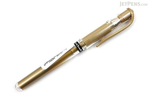 Uni-ball Gel Impact Gel Pen - 1.0 mm - Gold - UNI-BALL 60767