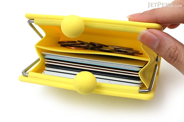 P+G Sepa-Pochi Card and Coin Case - Yellow - P+G SEPAPO YL