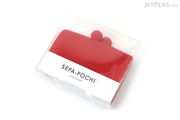 P+G Sepa-Pochi Card and Coin Case - Red - P+G SEPAPO RD